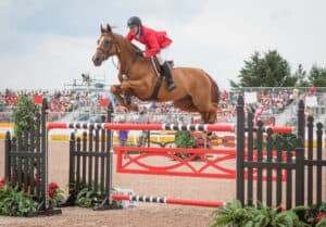 Mclain Ward (USA) and Rothchild at the Caledon Pan Am Equestrian Park during the Toronto 2015 Pan American Games in Caledon, Ontario, Canada.