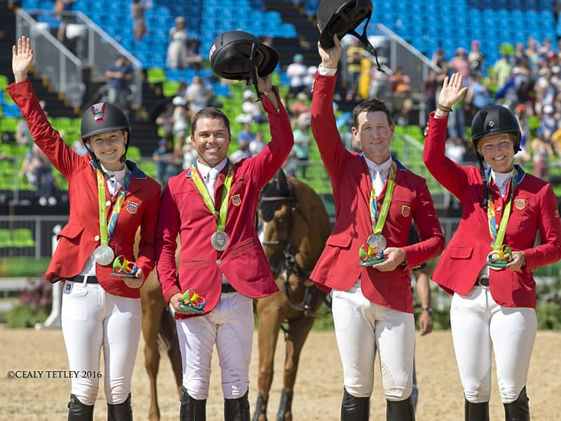 Silver Medal for U.S. Show Jumping Team at 2016 Olympic Games