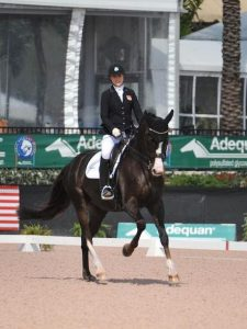 Annie Peavy and Royal Dark Chocolate at the 2017 Adequan Global Dressage Festival CPEDI3*. (Photo: Lindsay Y. McCall)