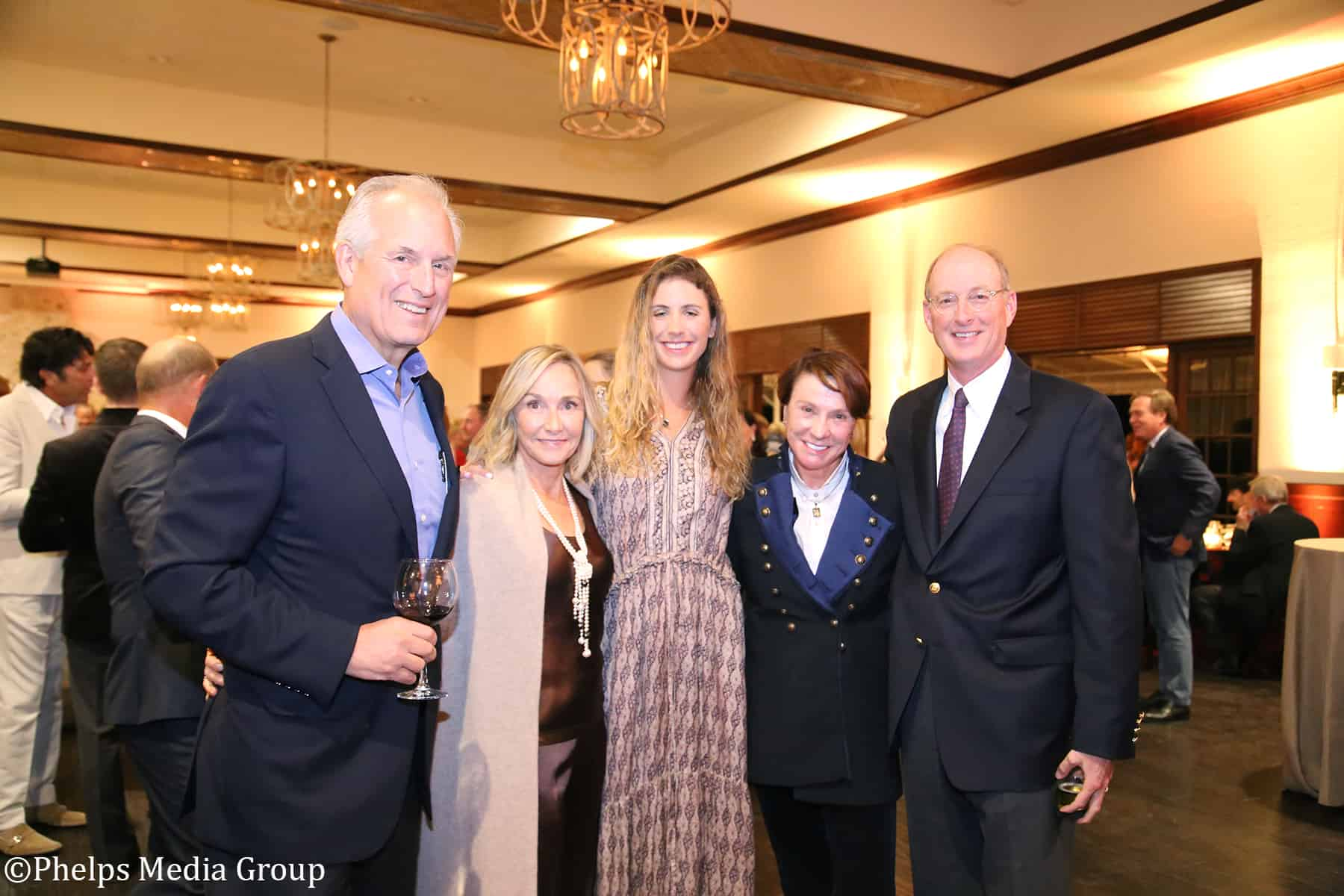 Left to right: USET Foundation President and CEO Jim McNerney, Patricia Boone, Julia McNerney, Haity McNerney and Alex Boone.