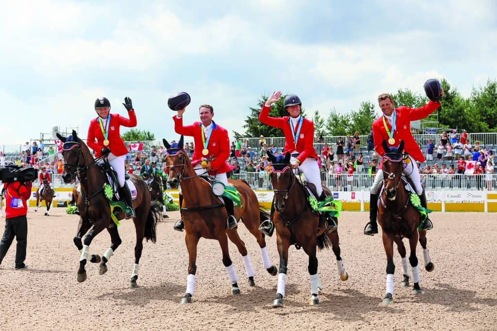Marilyn Little, Boyd Martin, Phillip Dutton and Lauren Kieffer at the 2015 Pan Ams