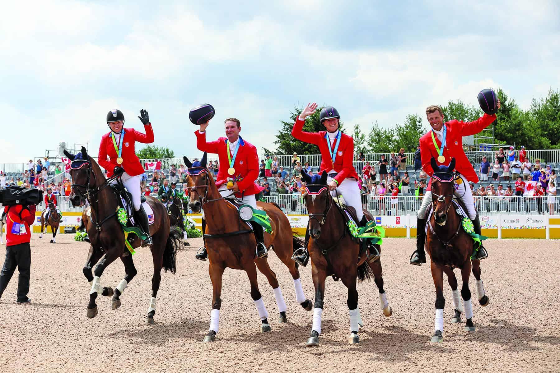 Marilyn Little, Boyd Martin, Phillip Dutton and Lauren Kieffer at the 2015 Pan Ams