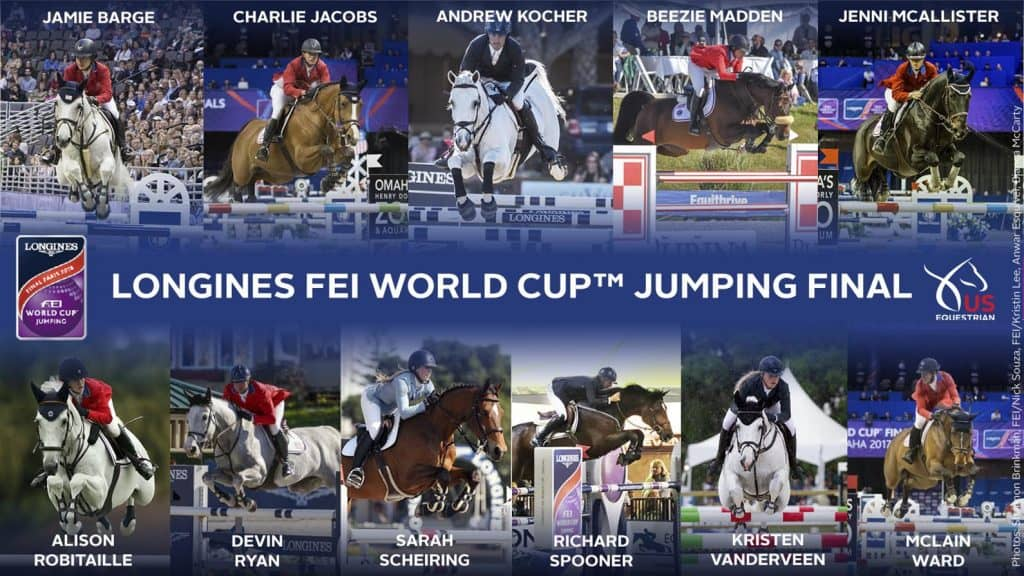 US Equestrian Announces Combinations for 2018 Longines FEI World Cup™ Jumping Final and FEI World Cup™ Dressage Final Paris