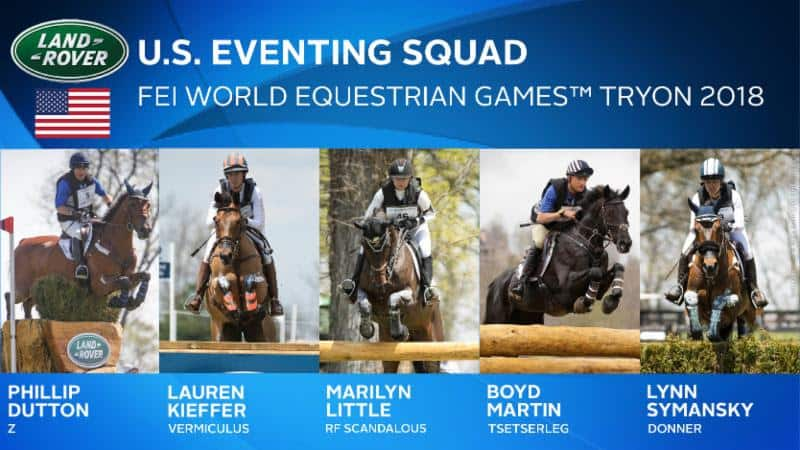 US Equestrian Names Land Rover U.S. Eventing Squad for FEI World Equestrian Games™ Tryon 2018