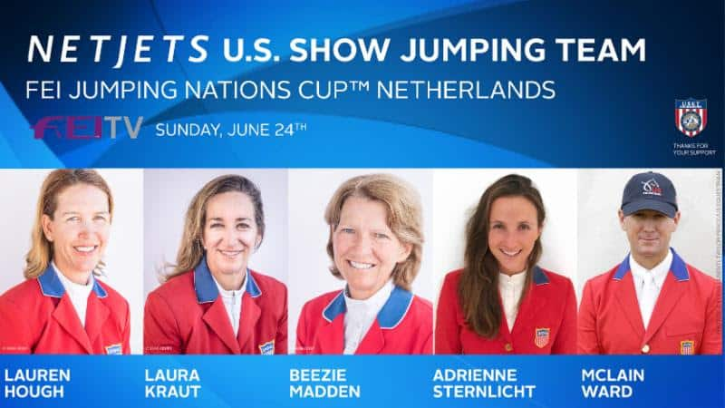US Equestrian Announces NetJets® U.S. Show Jumping Teams for Longines FEI Jumping Nations Cup™ Poland, The Netherlands