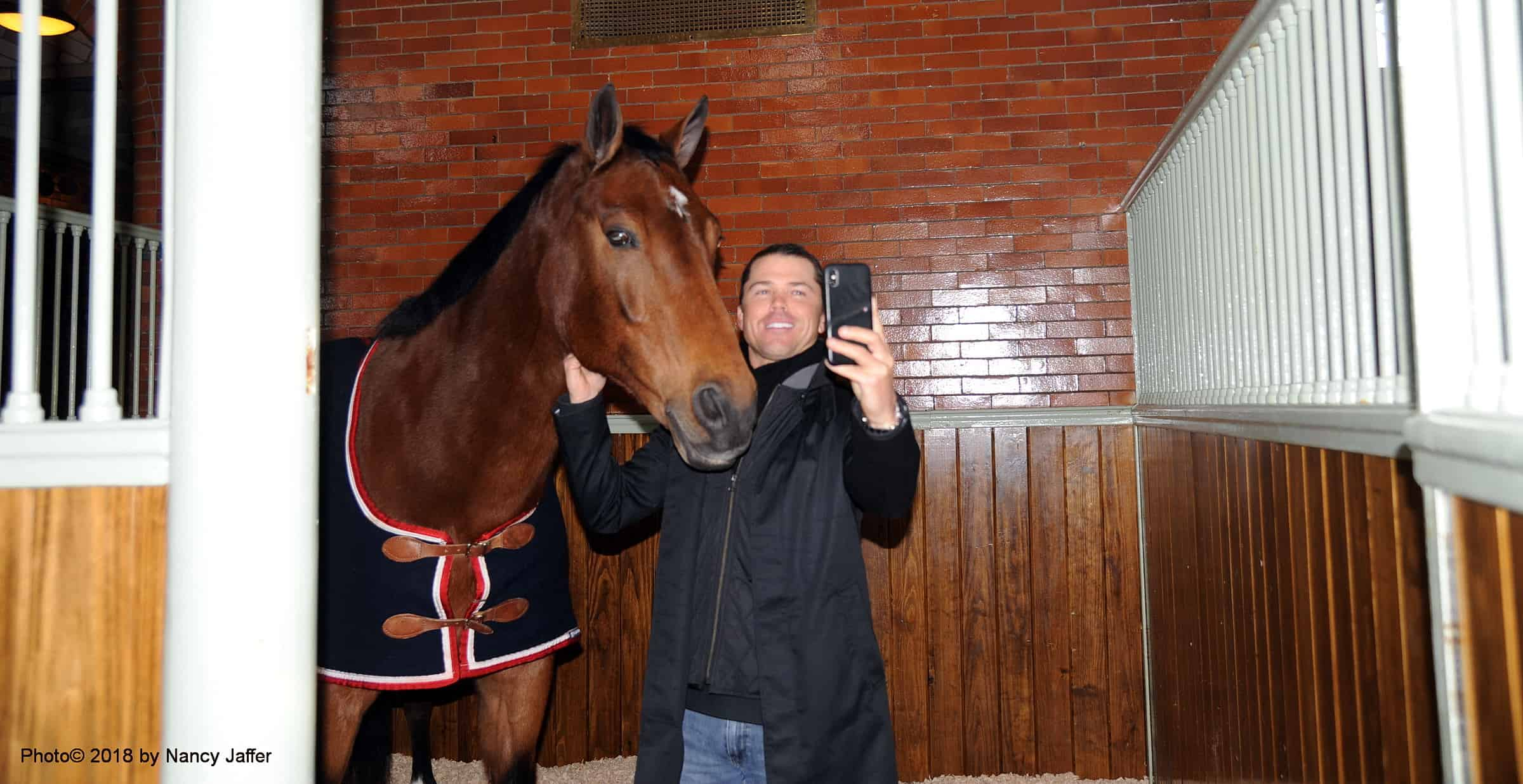 Kent Farrington and Madison take a selfie. Photo by Nancy Jaffer