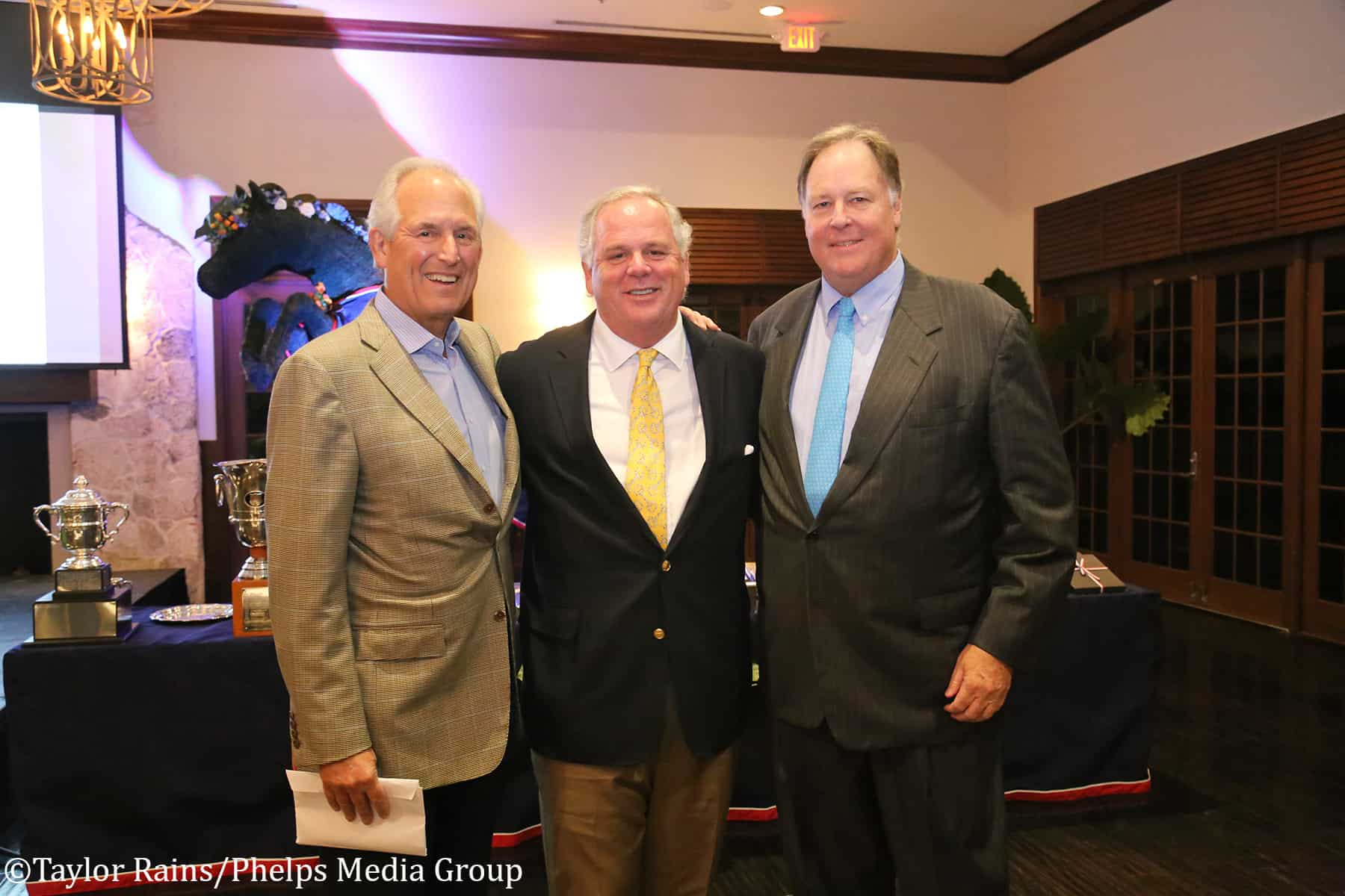 <em>Left to right: USET Foundation President and CEO W. James McNerney, Jr., S. Tucker S. Johnson and USET Foundation Vice President William H. Weeks.</em>
