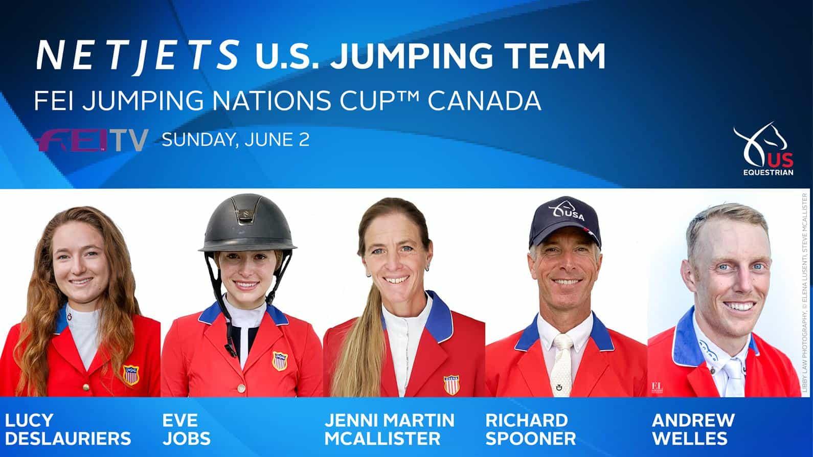 US Equestrian Names NetJets® U S  Jumping Team for Longines