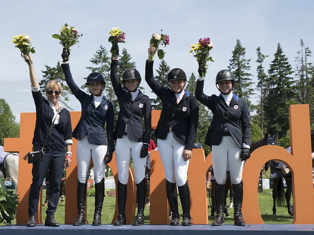 The U.S. Junior Jumping Team  Photo: Rebecca Berry