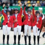 Beezie Maden, Alex Granato, Eve Jobs and Lucy Deslauriers