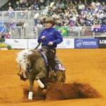 Jordan Larson and ARC Gunnabeabigstar, owned by HDC Quarter Horses USA LLC