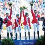 McLain Ward, Adrienne Sternlicht, Laura Kraut and Devin Ryan